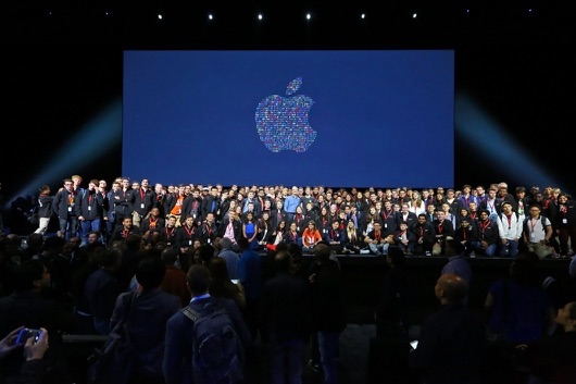 WWDC audience and stage