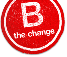 B the change logo